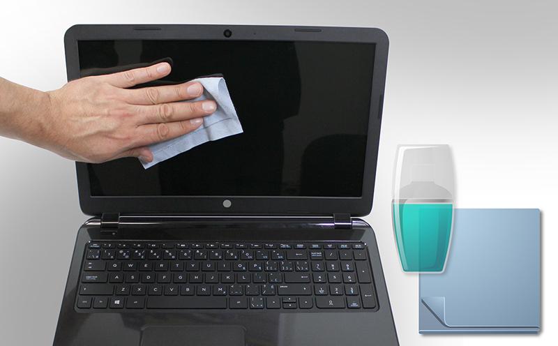 clean laptop screen