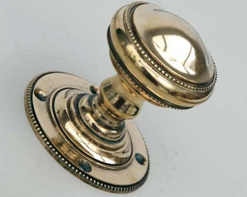 clean brass door knobs