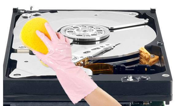 clean computer hard drive