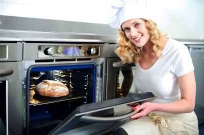 clean oven fast